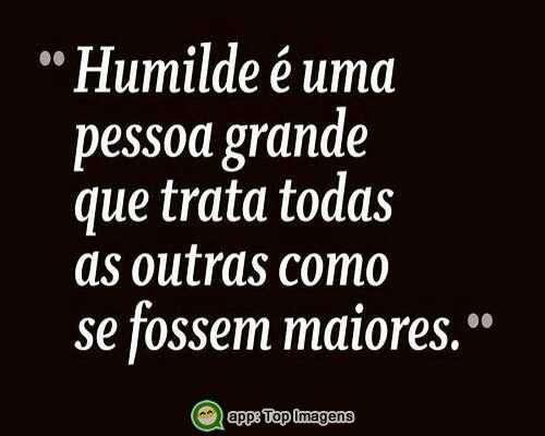 O que é humildade