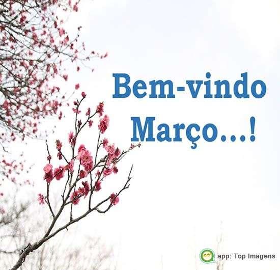 Bem-vindo março