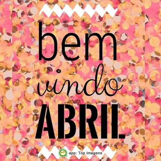 Bem-vindo abril