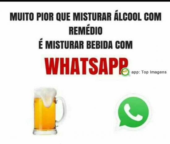Misturar bebida com whatsapp