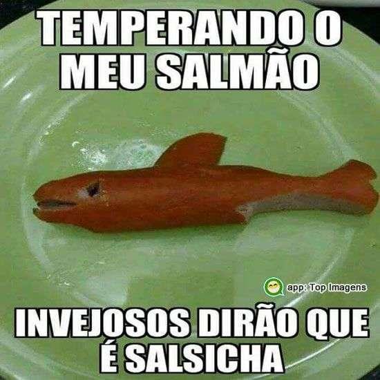 Temperando meu salmão