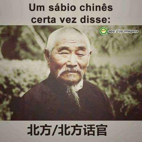 Um sábio chinês