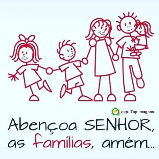 Abençoa Senhor as famílias