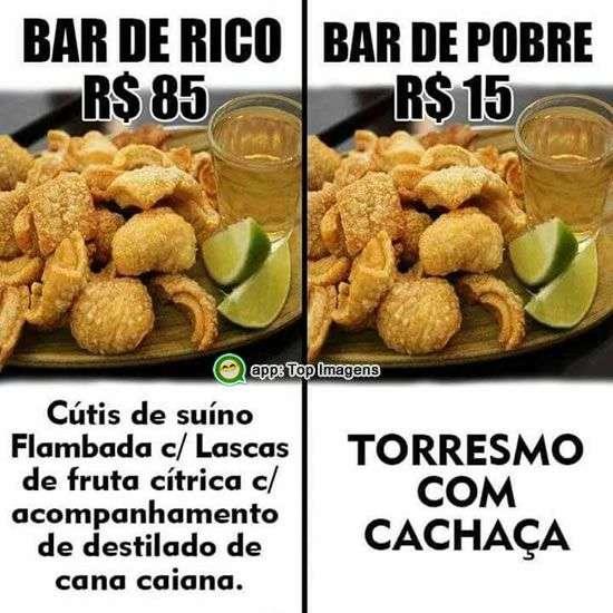 Bar de rico e de pobre