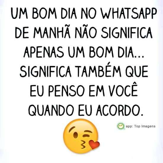 Bom dia no whatsapp