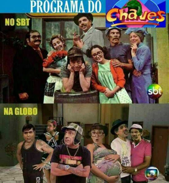 Chaves antes e depois