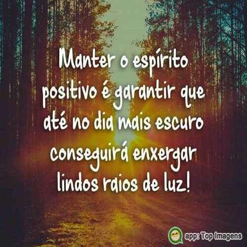 Manter o espírito positivo