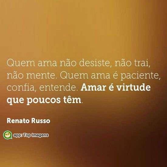 Amar é virtude