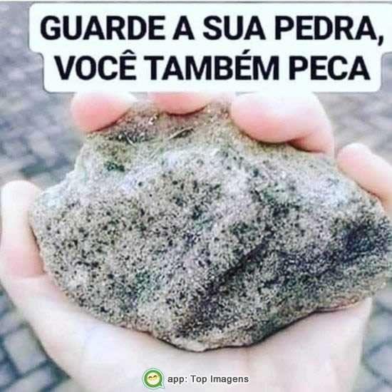 Guarde sua pedra
