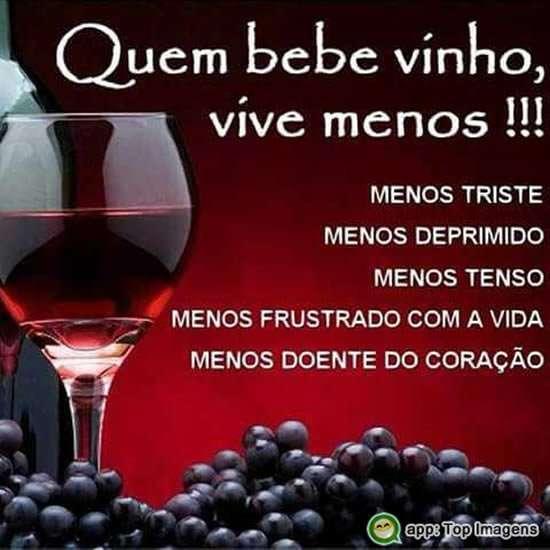 Quem bebe vinho