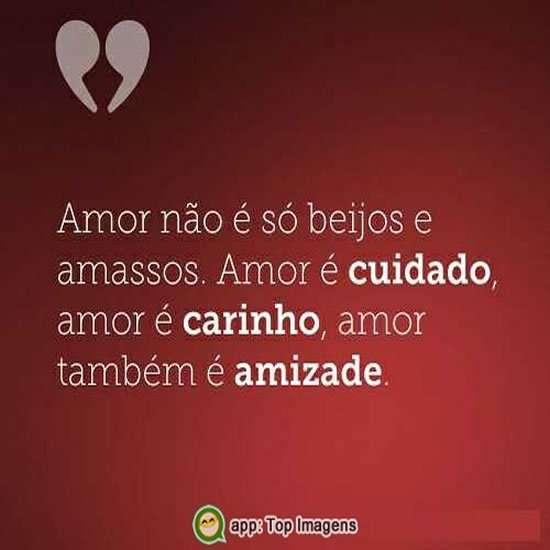 Amor é cuidado