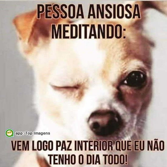 Pessoa ansiosa meditando