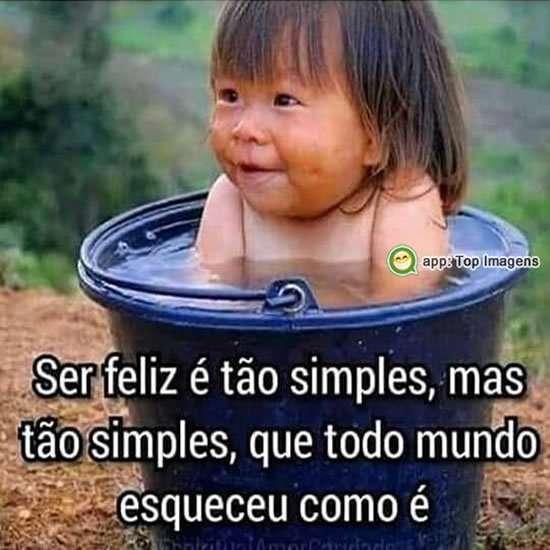 Ser feliz é simples