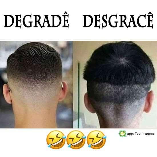 Corte de cabelo degradê
