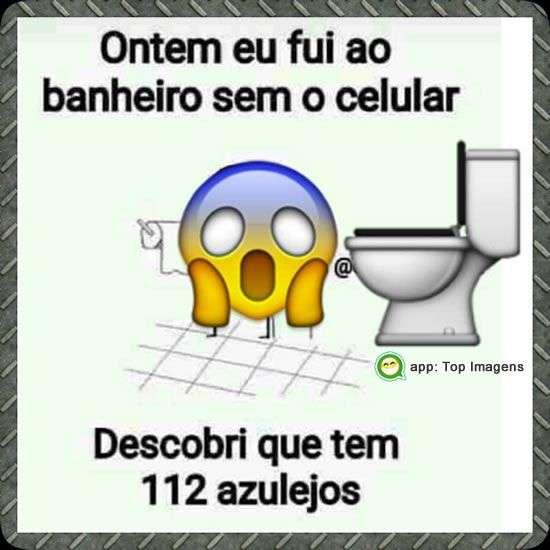 Banheiro sem o celular