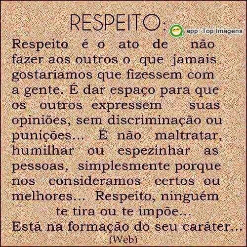 Definição de respeito