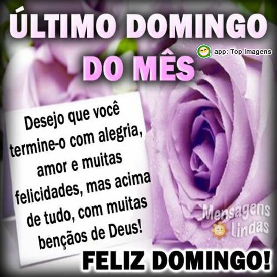 Último domingo do mês