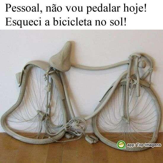 Bicicleta no sol