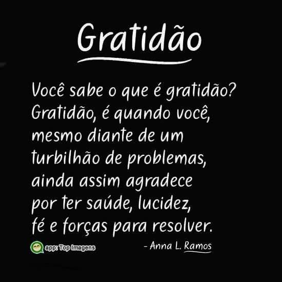 O que é gratidão