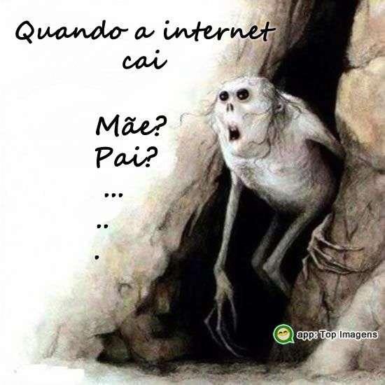 Quando a internet cai