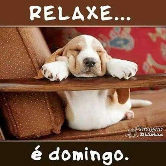 Relaxe é domingo
