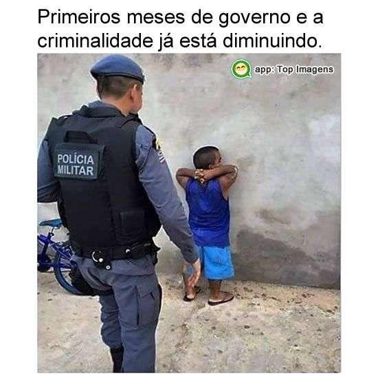 Criminalidade diminuindo