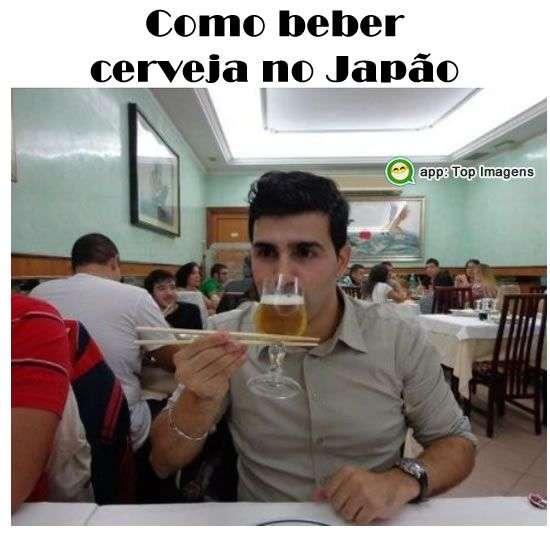 Beber cerveja no Japão