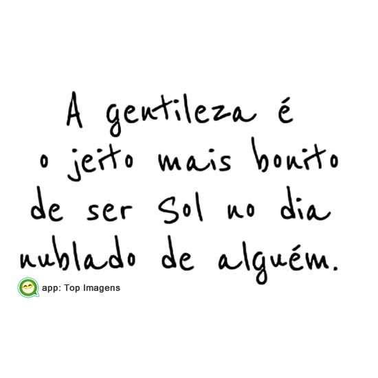 Seja gentil