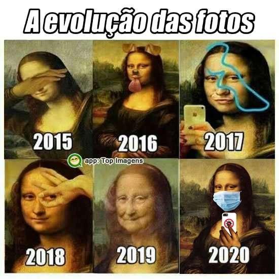 Evolução das fotos