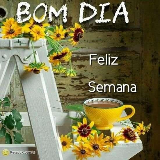 Bom dia e feliz semana