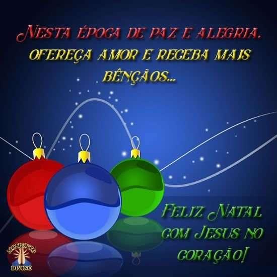 Feliz Natal com Jesus no coração