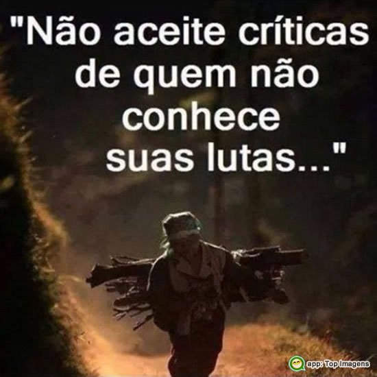 Não aceite críticas