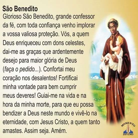 Oração de São Benedito