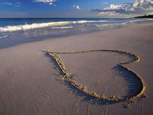 Coração na areia